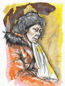 Woman in Orange Parka