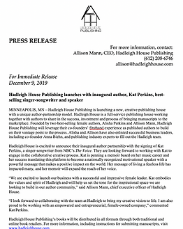 Hadleigh House Press Release