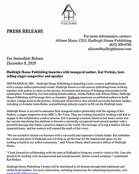 Hadleigh House Press Release