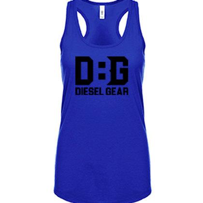 Youth Girls/ Ladies Diesel Gear (Black Logo) Racerback Tanks
