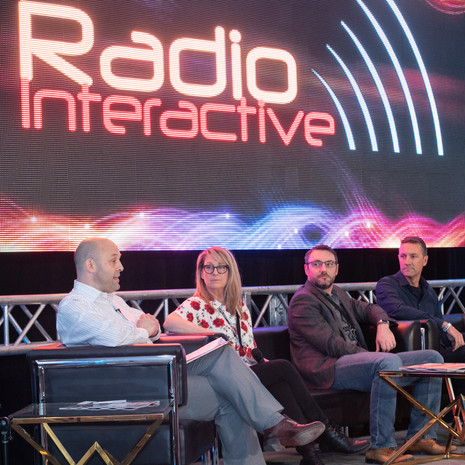 Talking Podcast At Canadian Music Week