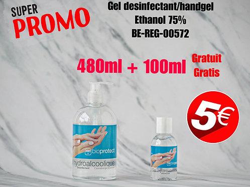 PROMO- 1+1 Gratuit/Gratis Gel hydroalcoolique 75% alcool/  gel 75% alcohol