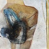Pas de deux 2018, Mischtechnik auf Leinwand, 30 x 30 cm, Original von Sylvia Galos, übermalt von Philine-Johanna Kempf