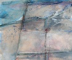 Acrylbild von Sylvia Galos, Ses Salines, Mallorca von oben