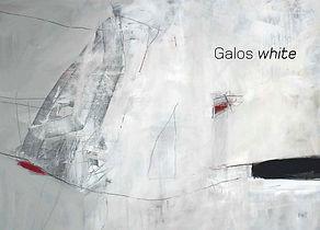 Katalogtitelseite mit abstraktem Kunstwerk vorwiegend in weiß, Katalogbezeichnung Galos white
