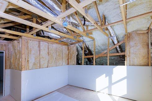 Gypsum board wall and ceiling interior r