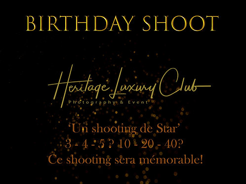 BIRTHDAY SHOOT - A PARTIR DE 3 ANS