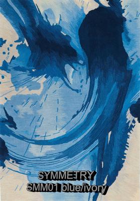 Nourison Symmetry smm01 blue-ivory.png