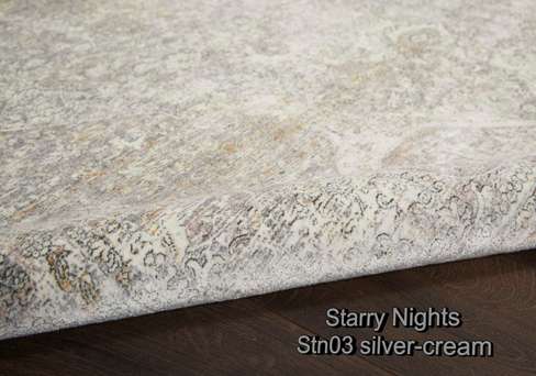 Nourison starry nights stn03 silver-crea