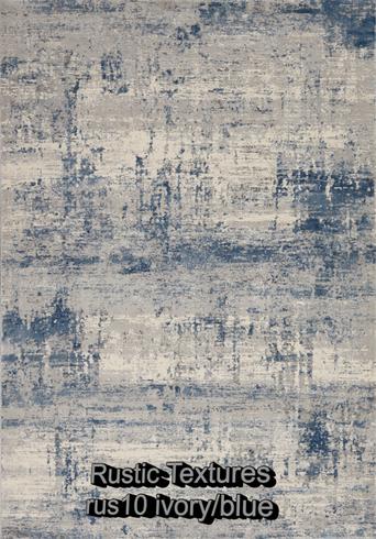 Nourison rustic textures rus10 ivory-blu