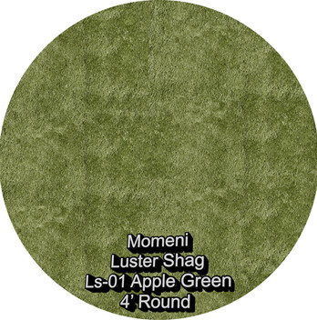 Momeni Luster Shag 01 apple green round.