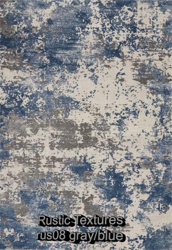 Nourison rustic textures rus08 gray-blue