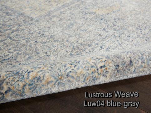 Nourison lustrous weave luw04 blue-gray