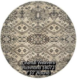 oriental weavers richmond  1807j round.j