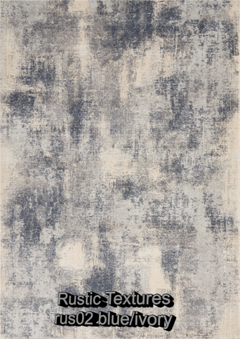Nourison rustic textures rus02 blue-ivor