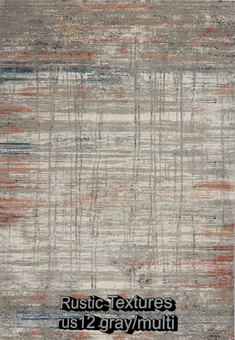 Nourison rustic textures rus12 gray-mult