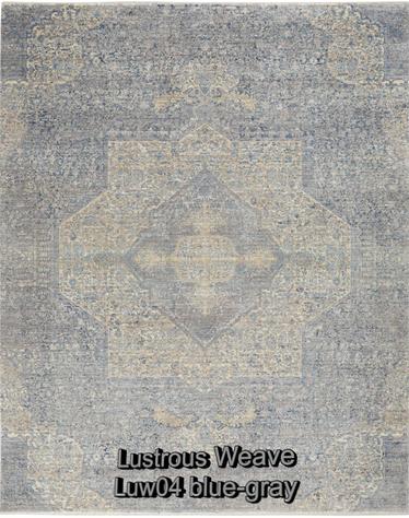 Nourison lustrous weave luw04 blue-gray.