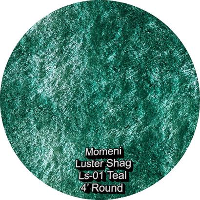 Momeni Luster Shag 01 teal round.jpg