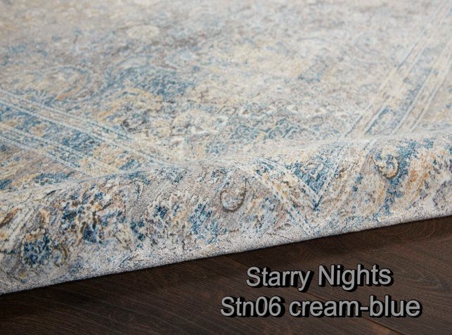 Nourison starry nights stn06 cream-blue