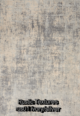 Nourison rustic textures rus01 ivory-sil