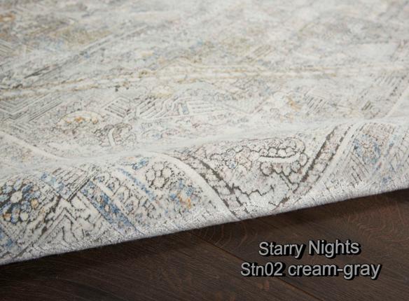 Nourison starry nights stn02 cream-gray
