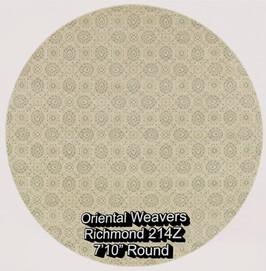 oriental weavers richmond  214z round.jp