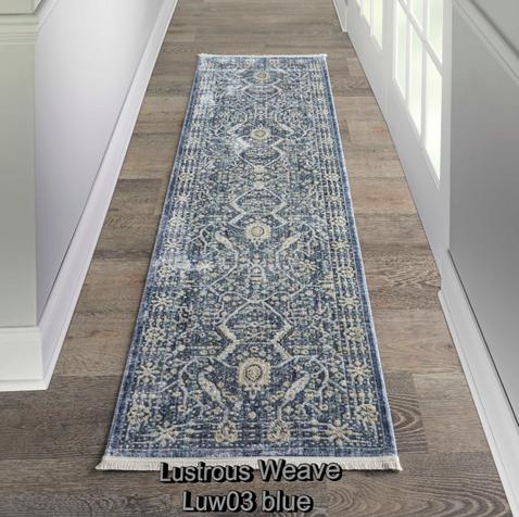Nourison lustrous weave luw03 blue runne