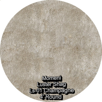 Momeni Luster Shag 01 champagne round.jp
