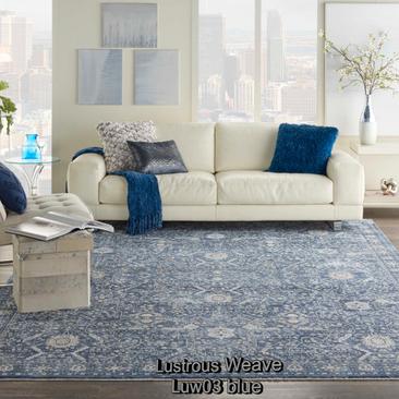 Nourison lustrous weave luw03 blue room.