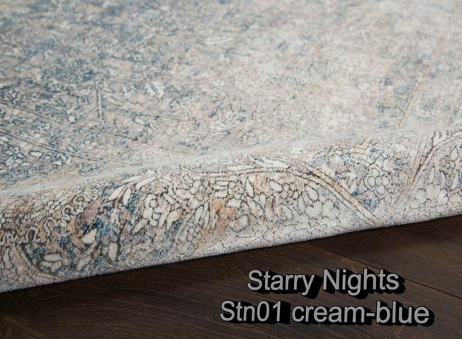 Nourison starry nights stn01 cream-blue