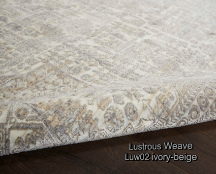 Nourison lustrous weave luw02 ivory-beig