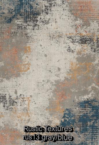 Nourison rustic textures rus13 gray-blue
