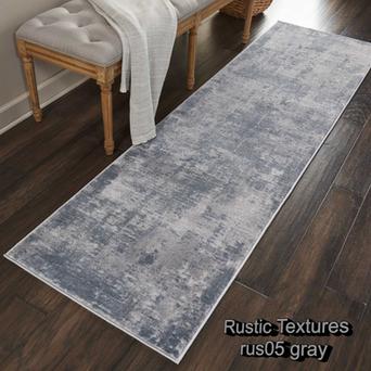 Nourison rustic textures rus05 gray runn
