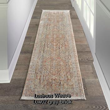 Nourison lustrous weave luw02 gray-brick