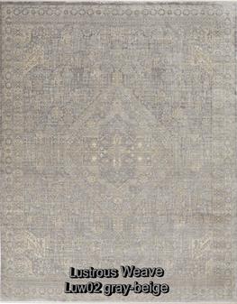 Nourison lustrous weave luw02 gray-beige