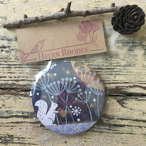 """Snowflake Walk"" Pocket Mirror"
