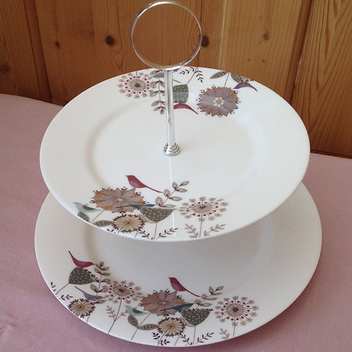 """""""Summer Dreams"""" 2 Tier Cake Stand"""