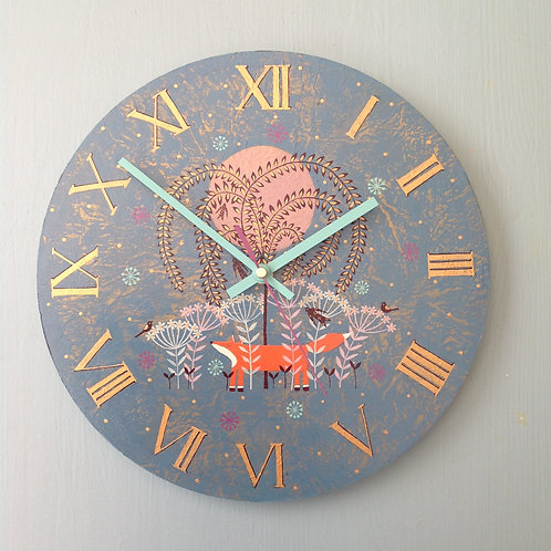 """Foxy"" Large Clock"