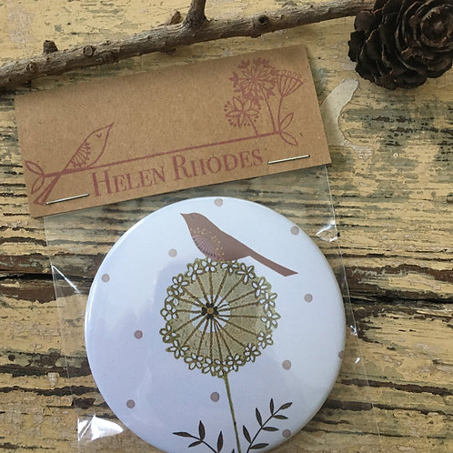 """Birdy Hedgerow""Pocket Mirror"