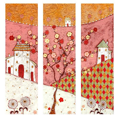 """""""Cherry Blossom Triptych """"Print"""