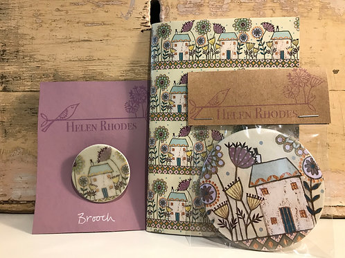 ONLY 1 AVAILABLE The Road to Happiness Brooch, Notebook and Pocket Mirror