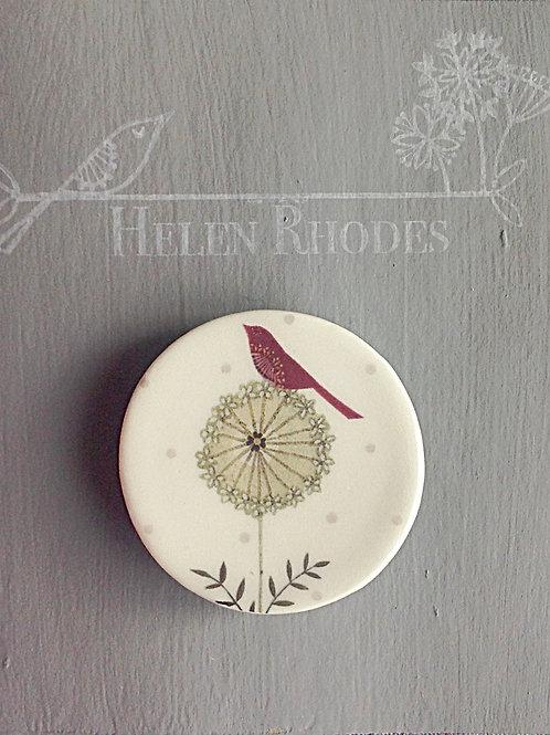 """Birdy Hedgerow"" Brooch"