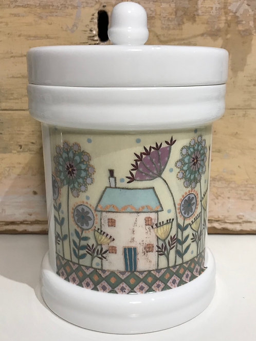 """Road to Happiness"" Storage Jar"