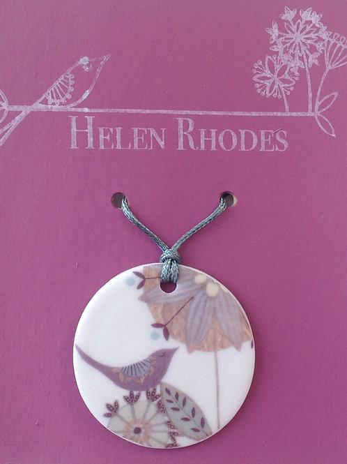 Purple Bird Pendant