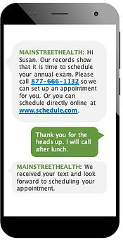 mobile deviee showing text conversation - chating on smartphone