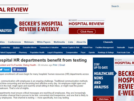 Brandon Daniell Writes About Benefits of Texting for Hospital HR Departments