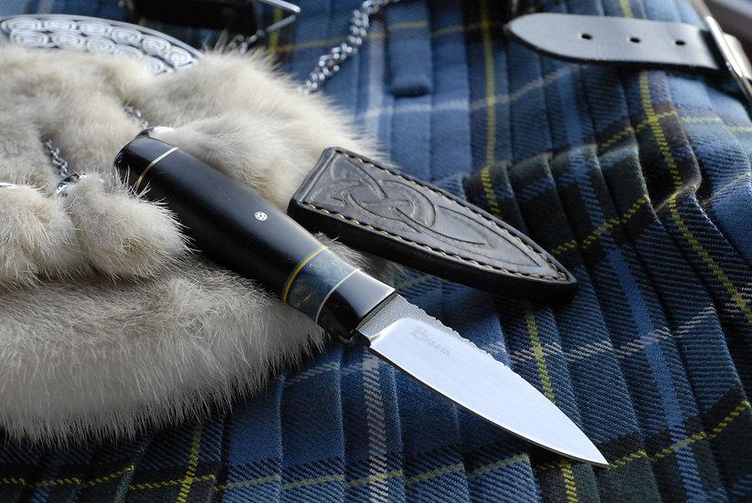 Sgian Dubh - Manx Tartan, Ebony & Buffalo Horn