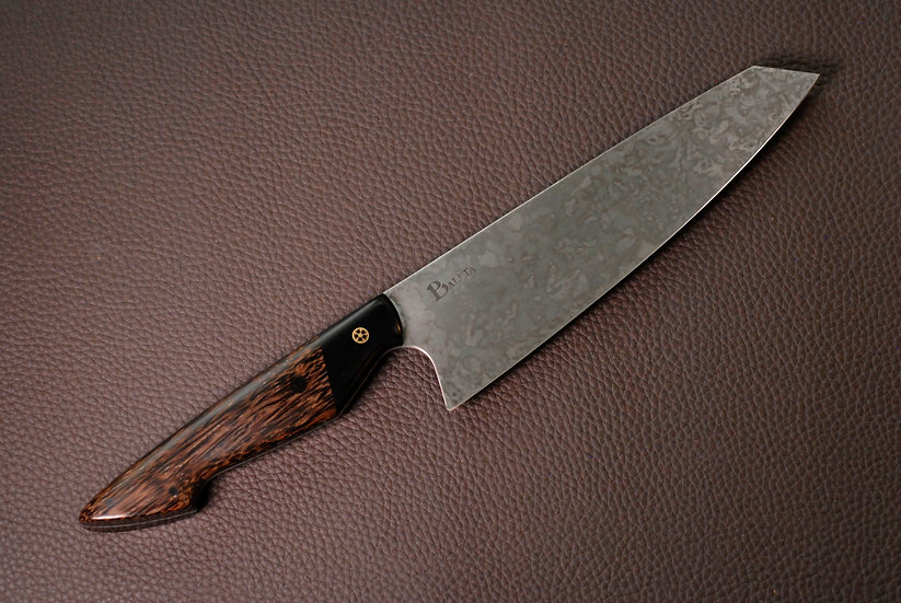"8"" Gyuto Chef Knife - Stabilised Black Palm and Micarta"