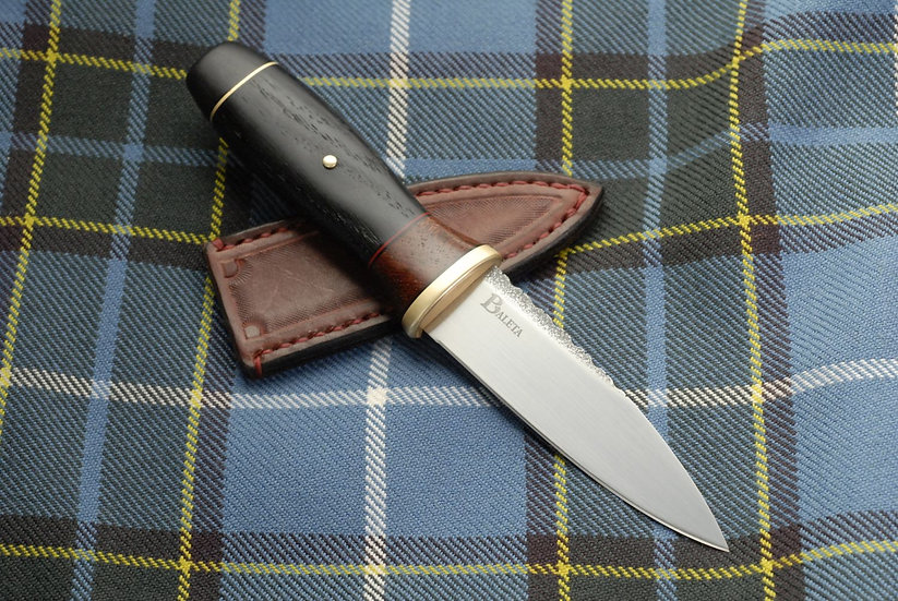 Sgian Dubh 'Coruisk' - Brass, Camelthorn, Bog Oak and Ebony