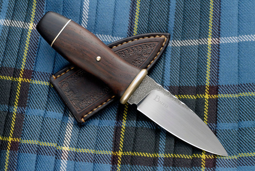 Sgian Dubh 'Scavaig' - Brass, Cocobolo & African Blackwood